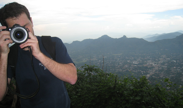 Taking photos above Tepoztlan, Mexico - Photo: Amy Graglia.