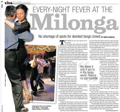 Every-Night Fever at New York Milongas.