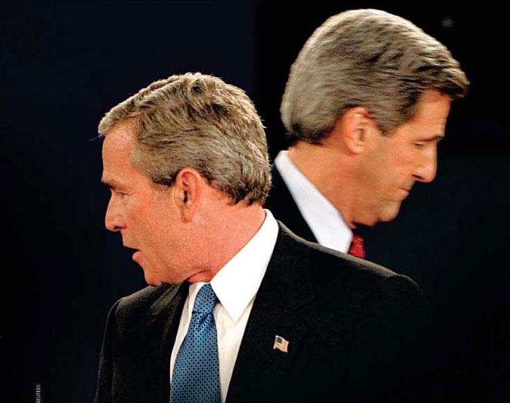 George W. Bush derrotaría al demócrata John Kerry en las elecciones de 2004.