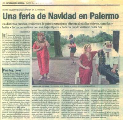 Feria de colectividades en Palermo, Diario Clarín, 1998.
