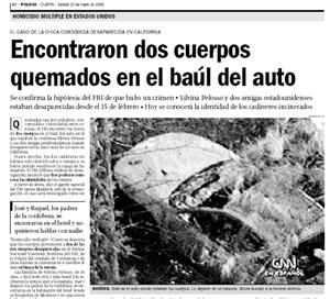 El Caso Pelosso en Clarín.